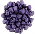 #06.00 - 25 Stck. NIB-BIT-Beads 6x5mm - Matallic Suede - Purple