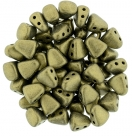 #06.03 - 25 Stck. NIB-BIT-Beads 6x5mm - Matallic Suede - Gold