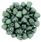 #06.02 - 25 Stck. NIB-BIT-Beads 6x5mm - Matallic Suede - Lt. Green
