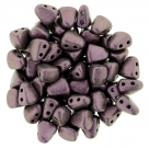 #06.04 - 25 Stck. NIB-BIT-Beads 6x5mm - Matallic Suede - Pink
