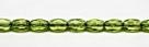 #20 - 30 Stück - 6*4mm Glasschliffperlen - olive