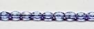 #21 - 30 Stück - 6*4mm Glasschliffperlen - tanzanite