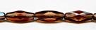 #24 - 4 Stück - 15*6mm Glasschliffperlen - smoky topaz celsian