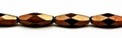 #25.02 - 4 Stück - 15*6mm Glasschliffperlen - jet dark bronze