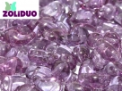 #01.02a - 25 Stück Zoliduo Right Version 5 x 8 mm Crystal Lila Vega Luster