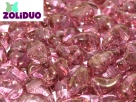 #01.01a - 25 Stück Zoliduo Right Version 5 x 8 mm Crystal Teracota Red