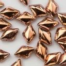 #01.09 - 25 Stück GemDUO 5x8 mm - Crystal Capri Gold