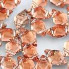 #01.15 - 25 Stück GemDUO 5x8 mm - Crystal BACKLIT - Peach