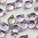 #01.18 - 25 Stück GemDUO 5x8 mm - Crystal BACKLIT - Pink Mist
