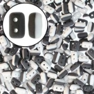 #44a 10g Rulla-Beads DUETS - black & white matted