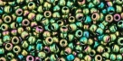 10 g TOHO Seed Beads 11/0 TR-11-0508 - Higher-Metallic Iris-Olivine (C)