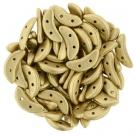 #28.01 5g Crescent-Beads 10x3 mm - Matte Metallic Flax