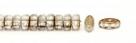 #01.02 - 25 Stück CALI Beads 3x8 mm - Crystal Half Bronze