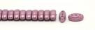 #02.06 - 25 Stück CALI Beads 3x8 mm - Chalk White Lila Vega Luster