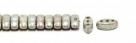 #02.10 - 25 Stück CALI Beads 3x8 mm - Chalk White Lazure Blue