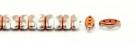 #02.08 - 25 Stück CALI Beads 3x8 mm - Chalk White Sunset