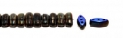 #04.04 - 25 Stück CALI Beads 3x8 mm - Jet Azuro