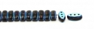 #04.07 - 25 Stück CALI Beads 3x8 mm - Jet AB