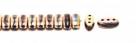 #04.05 - 25 Stück CALI Beads 3x8 mm - Jet Capri Rose