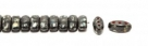 #04.09 - 25 Stück CALI Beads 3x8 mm - Jet Dk Travertin