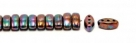 #04.03 - 25 Stück CALI Beads 3x8 mm - Jet Vega Iris