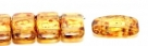 #01.01 - 10 Stück Zweiloch-Glasperle 9x17 mm - Crystal Travertin