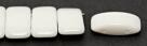 #02.00 - 10 Stück Zweiloch-Glasperle 9x17 mm - Chalk White