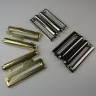 1 Gürtelschließe Metall gold 18x24mm