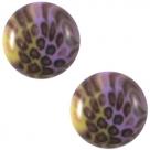 1 Stück Acryl-Cabochon - Polaris - rund - 20 mm - leopard purple