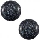 1 Stück Acryl-Cabochon - Polaris-Feltro Shiny - rund - 20 mm - dark blue