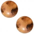 1 Stück Acryl-Cabochon - Polaris-Tortuga - rund - 20 mm - topaz braun marmoriert