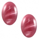 1 Stück Acryl-Cabochon - Polaris - oval - 18*13 mm (LxB) - rumba red