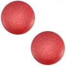 1 Stück Acryl-Cabochon - Polaris-Soft Tone - Matt -  rund - 20 mm - lt siam red