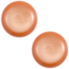 1 Stück Acryl-Cabochon - Polaris-Soft Tone - Shiny -  rund - 20 mm - soft orange