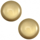 1 Stück Acryl-Cabochon - Polaris-Soft Tone - Shiny -  rund - 20 mm - khaki green