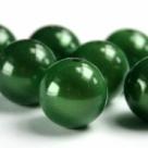 10 Stück Acryl - Miracle - Beads ca. 8 mm - grün