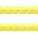 25 Stück AcrylWÜRFEL 5 mm - gelb