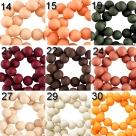 25 Stück Acrylperlen 8 mm - verschiedene Farbstellungen