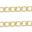 50 cm Gliederkette Aluminium Ø ± 14x9 mm gold