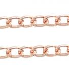 50 cm Gliederkette Aluminium Ø ± 14x9 mm rosé gold