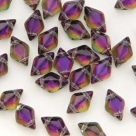 #01.19 - 25 Stück GemDUO 5x8 mm - Crystal BACKLIT - Purple Haze
