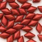 #03.03 - 25 Stück GemDUO 5x8 mm - Chalk White Lava Red