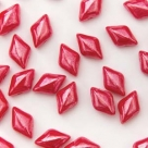 #05.02 - 25 Stück GemDUO 5x8 mm - Coral Red Lustered