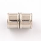 Magnet-Endkappen Bamboo - 19x14 mm Platinum Farben