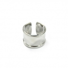1 Fingerring aus Metall - nickelfarben