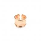 1 Fingerring aus Metall - rosé gold