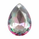 1 Tropfen facetiert 18x13x7mm (LxBxH) - crystal aurore boreale