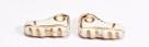 1 Paar Schuhe - 15*9 mm weiß/gold