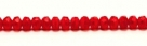 #22f - 20 Stück - 3*5mm Donut - tr. lt siam/red paint coating matt