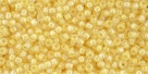 10 g TOHO Seed Beads 11/0 TR-11-1846 - Inside-Color Tr. Rainbow Orange/Creamcicle-Lined (E)